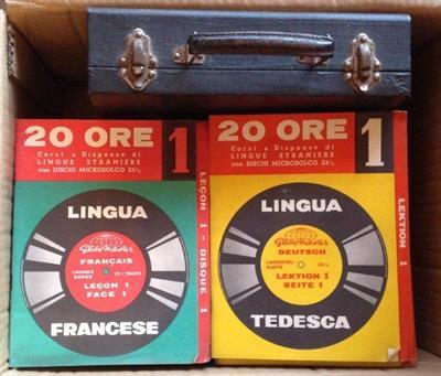 Corsi Francese/Tededesco dischi Globe Master 1963 + Inglese