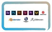 Lezioni dei programmi Adobe e Blender