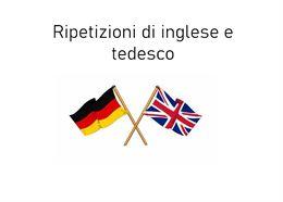Ripetizioni di inglese e tedesco