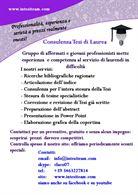 Tesi di laurea. Consulenza in tutta Italia