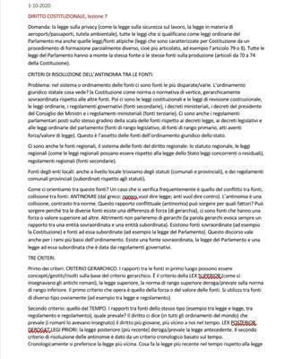 Appunti di Giurisprudenza di diritto costituzionale